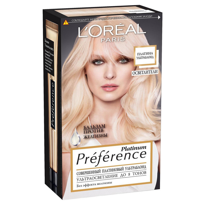 Краска L'Oreal Preference Platinum Ультраблонд 8 тонов осветления (A6737101).