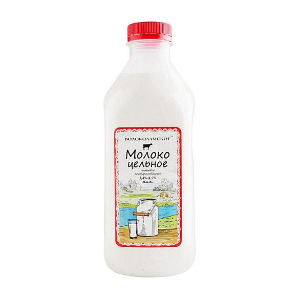 Молоко Волоколамское цельное пастеризованное 4,5%, 950 г недорого