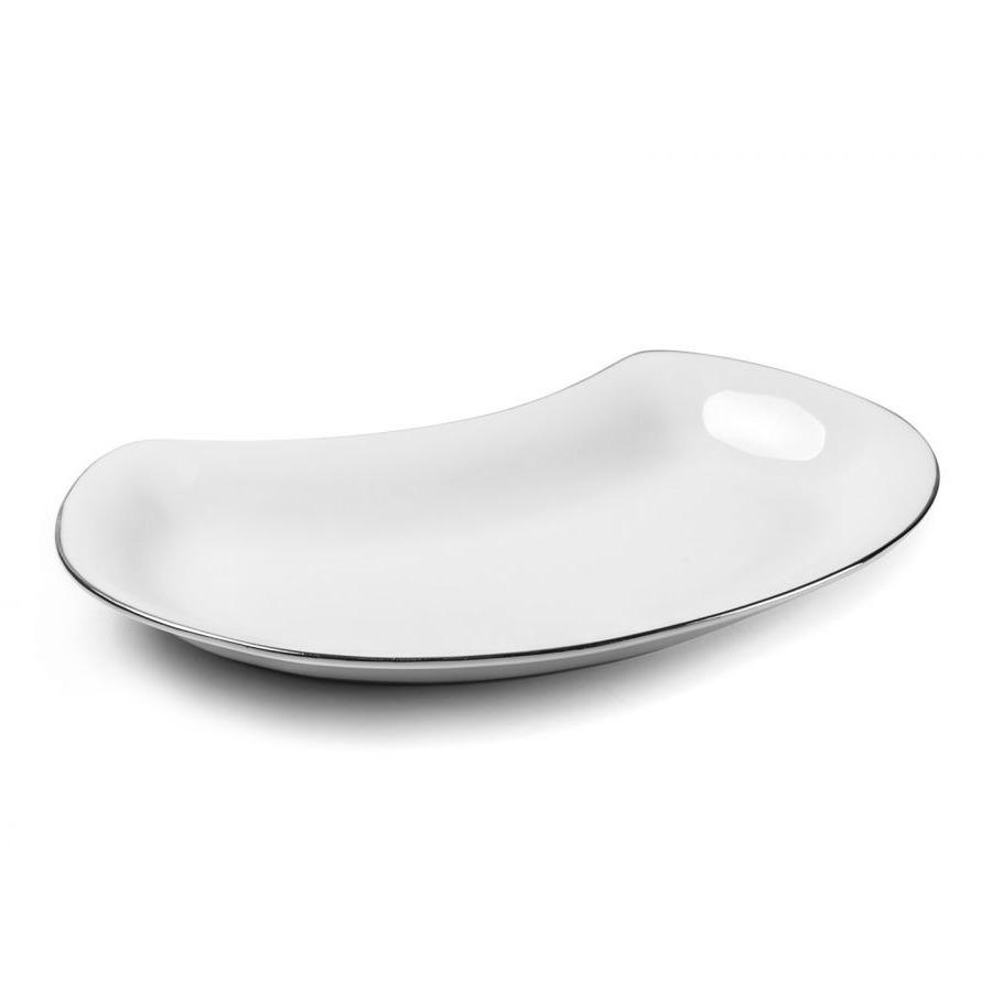 Блюдо Tunissie Porcelaine Vendange Filet Platine 24 см фото