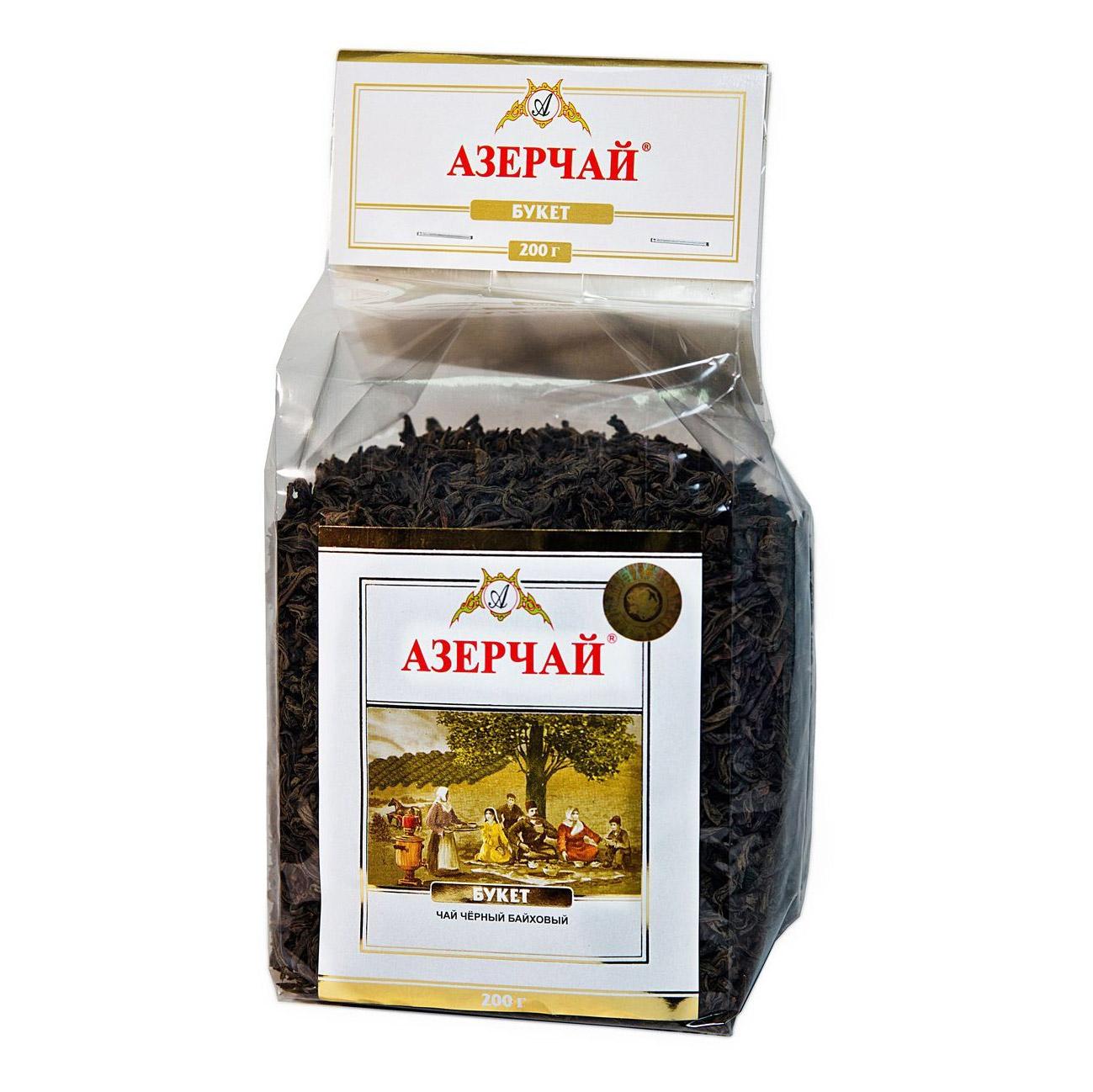 Фото - Чай Азерчай Букет черный листовой 200 г чай черный азерчай специальный с белым узором 200 г