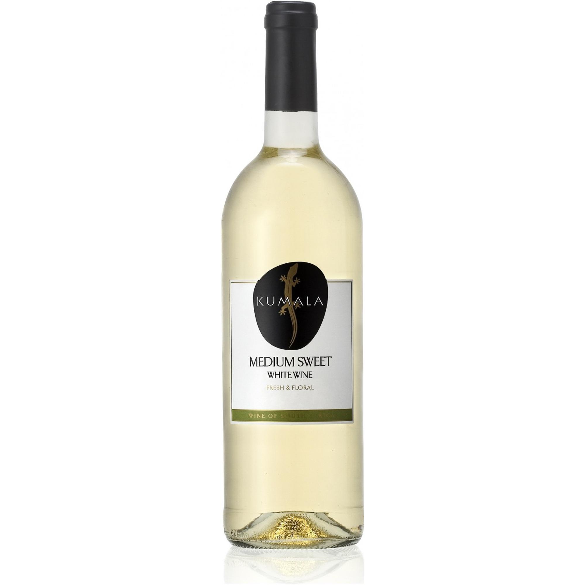 Купить Вино белое полусладкое Kumala Medium Sweet White 0, 75 л, ЮАР, Светло-соломенный