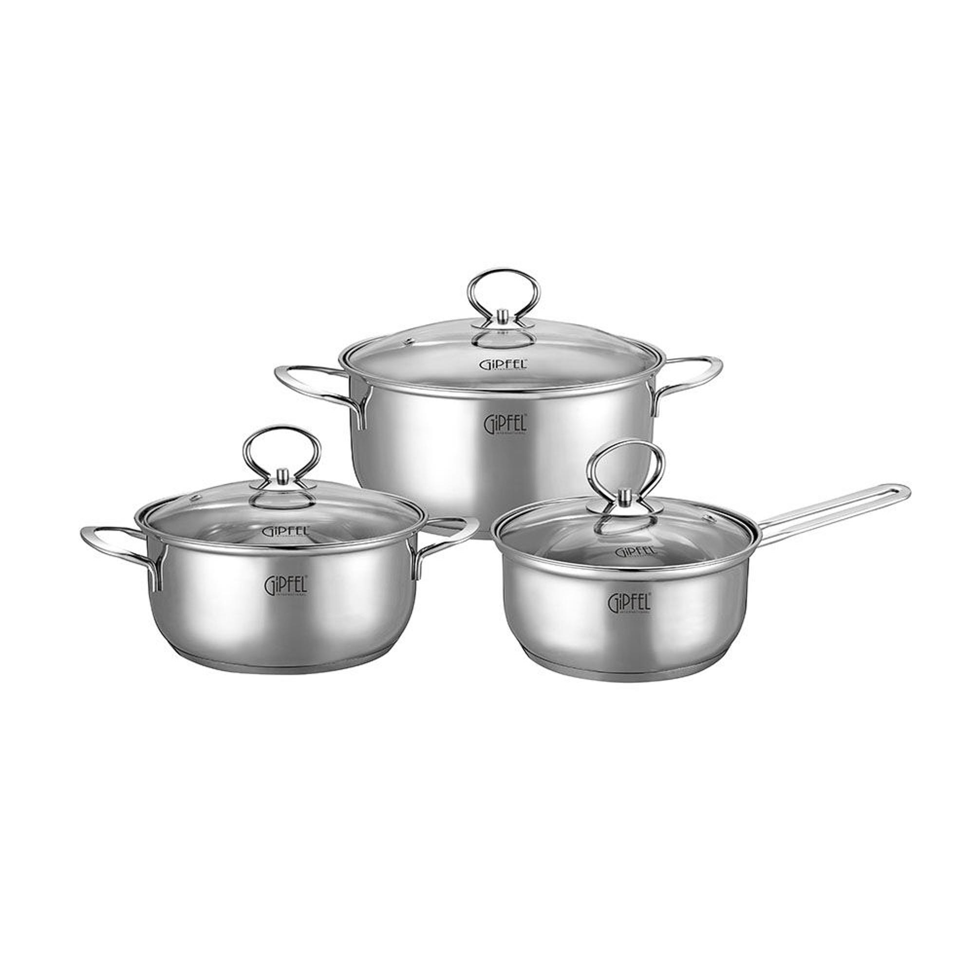Купить Набор посуды Gipfel Sofia 6 предметов, Китай, сталь нержавеющая