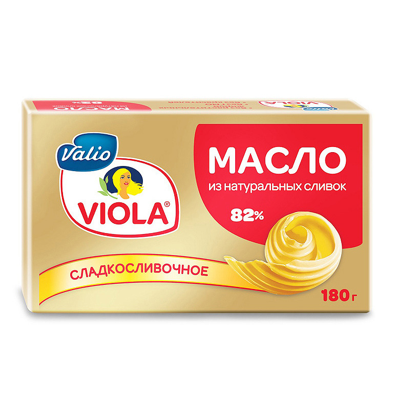 Фото - Масло Viola сладкосливочное 82% 180 г сыр valio viola плавленый ветчина и пармезан 45% 180 г