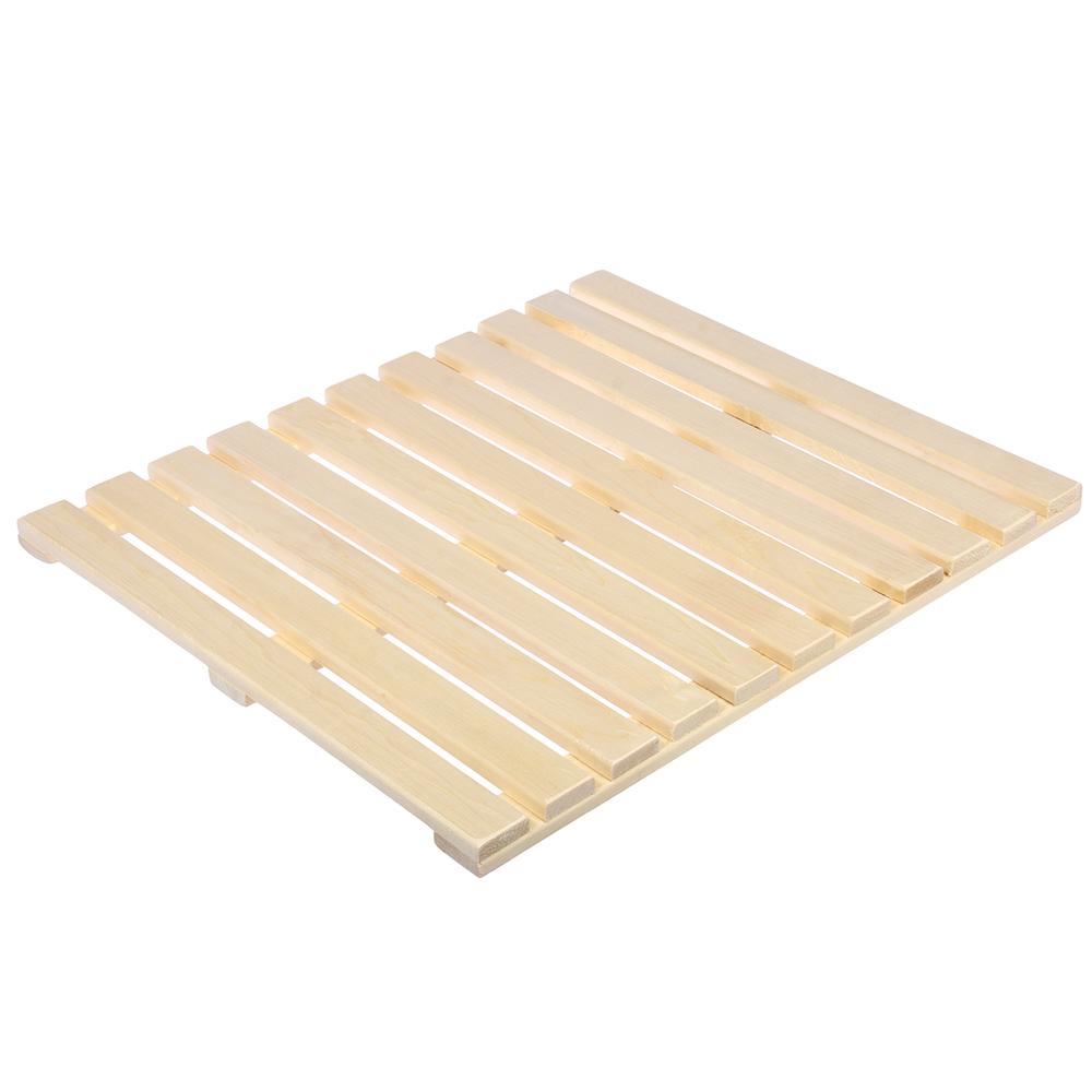 Решетка на пол 60х70 см для бани и сауны (липа)