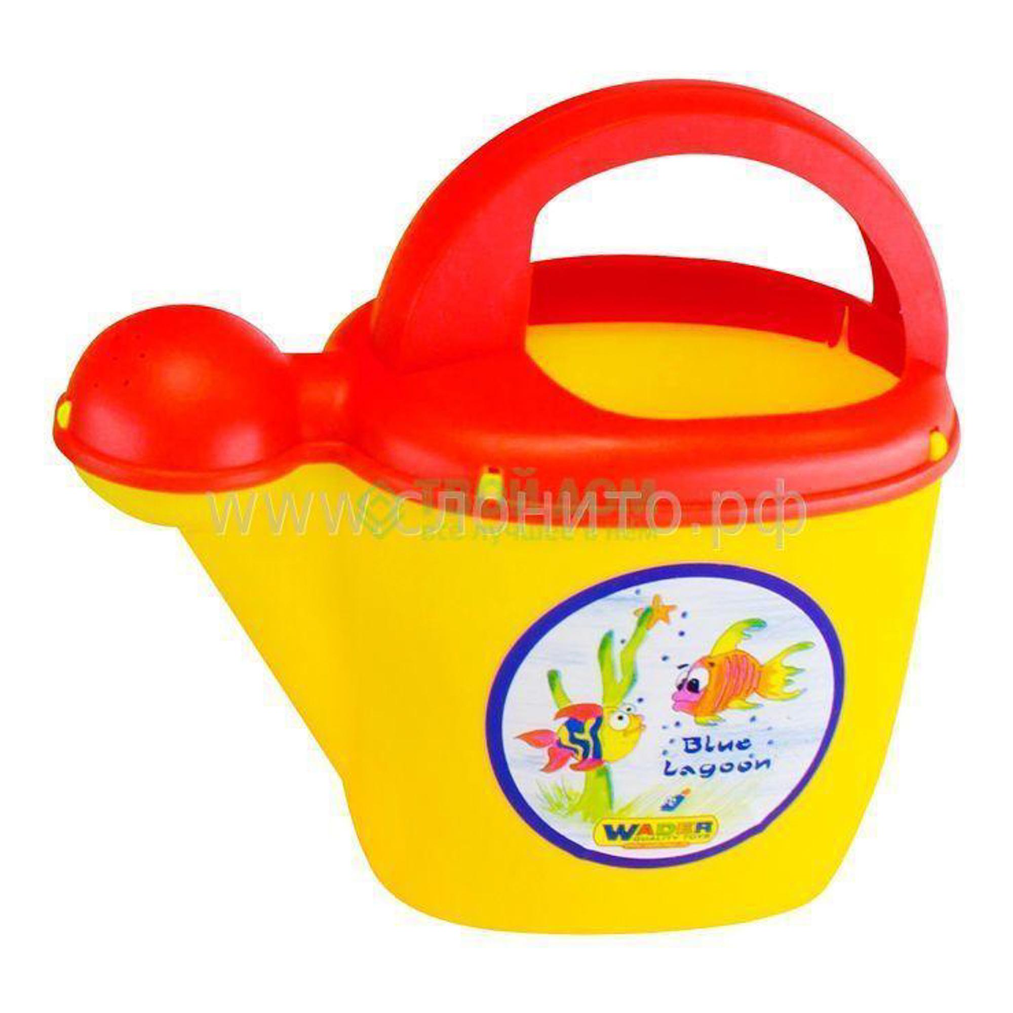 Купить Wader Лейка №10, Беларусь, красный, желтый, дерево, пластик, Игрушки для улицы и песочниц