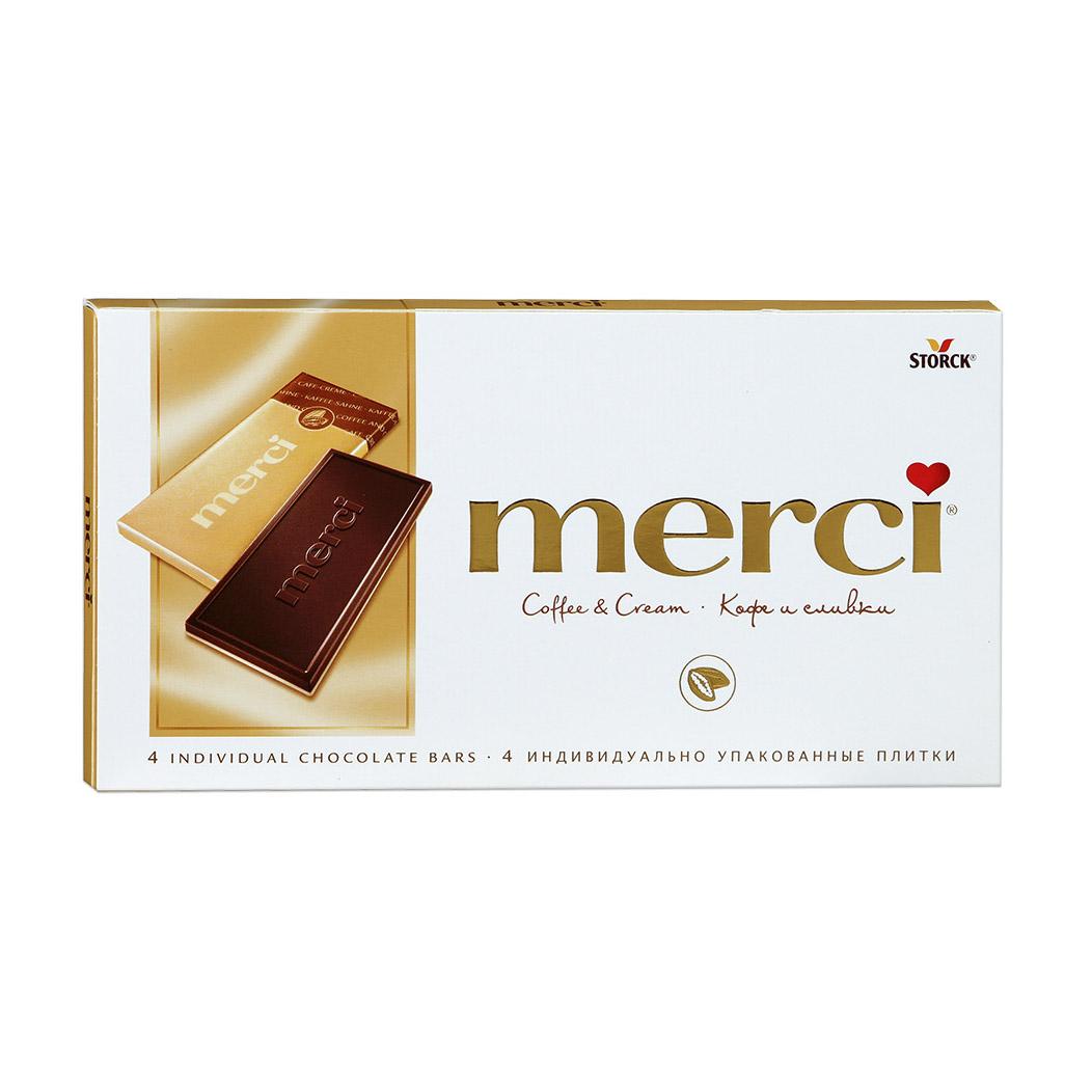 шоколад klaus молочный с кардамоном и кофе 100 г Шоколад Merci Молочный Кофе и Сливки 100 г
