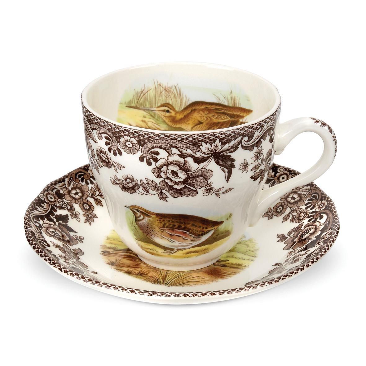Чашка чайная с блюдцем Spode 200мл английские охотничьи мотивы (SPD-WL1162)