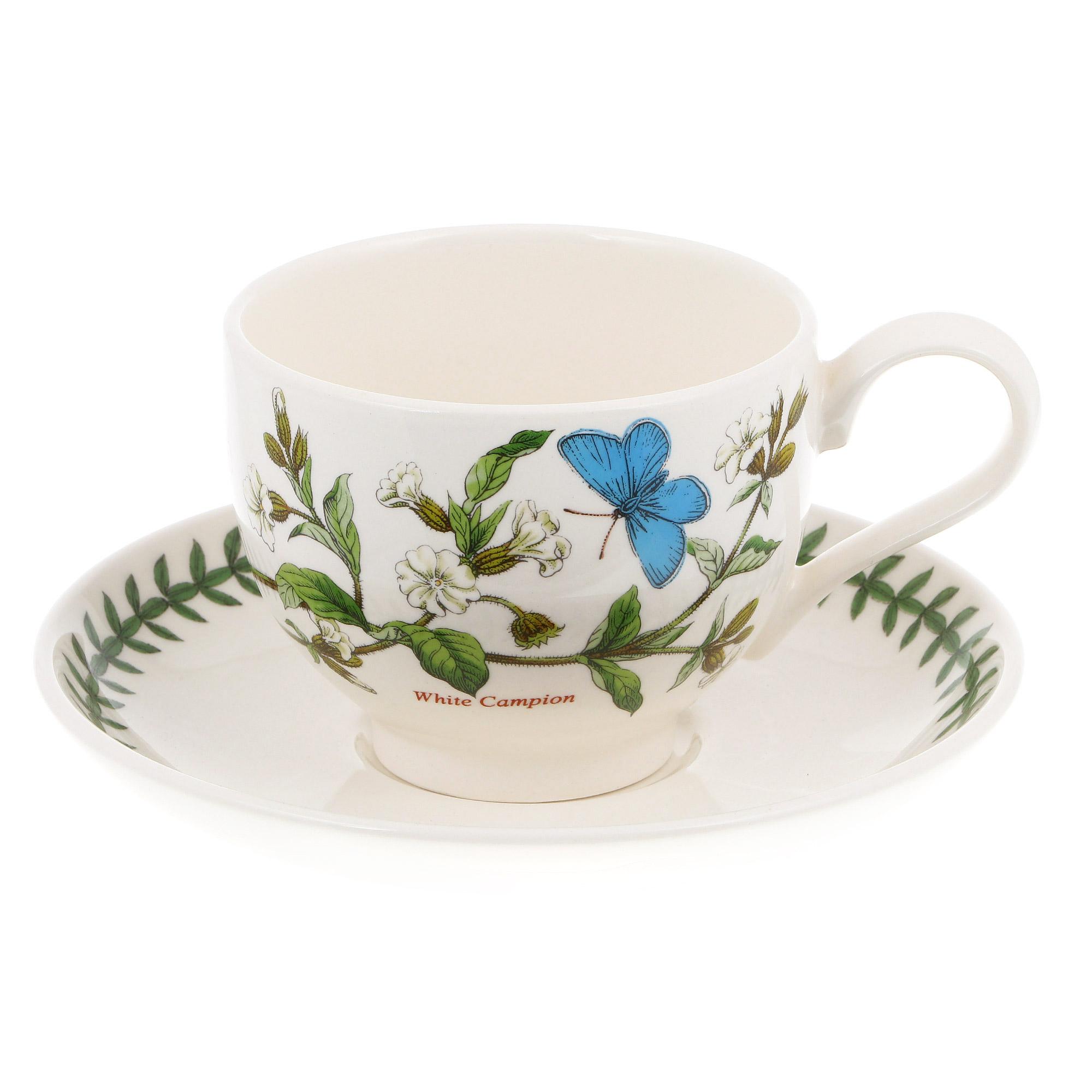 """Чашка чайная с блюдцем 280мл Portmeirion """"ботанический сад"""" """"смолевка"""""""