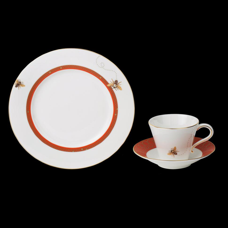 Фото - Набор чайный Hankook/Prouna Хони би с кристаллами Swarovski 3 предмета чайный сервиз hankook prouna блэк палас с кристаллами swarovski 22 предмета
