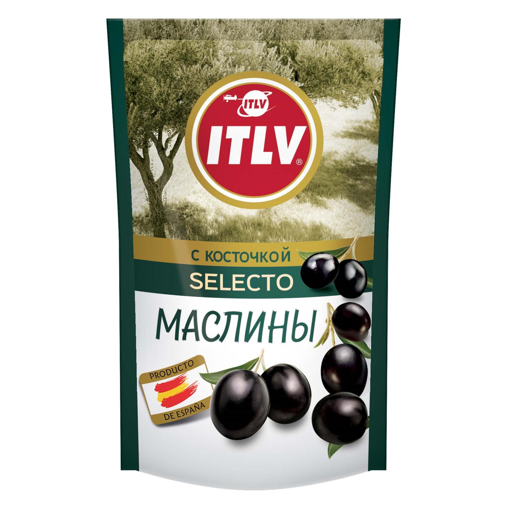 Маслины ITLV с косточкой Selecto 165 г дой-пак itlv маслины super с косточкой
