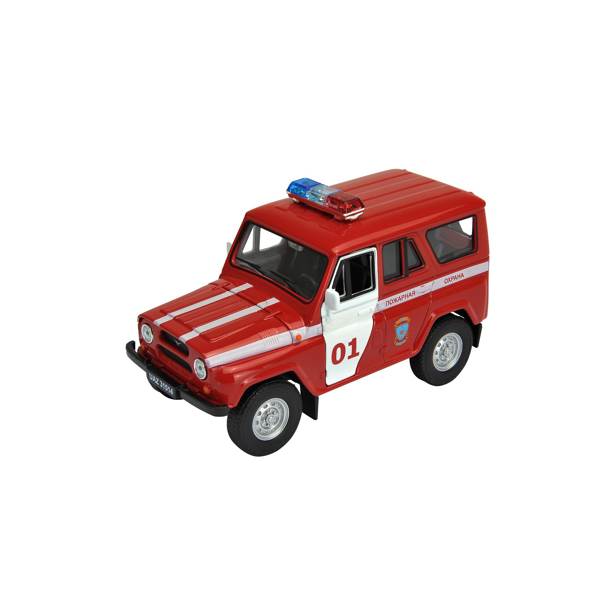Игрушка модель машины УАЗ 31514 ПОЖАРНАЯ ОХРАНА