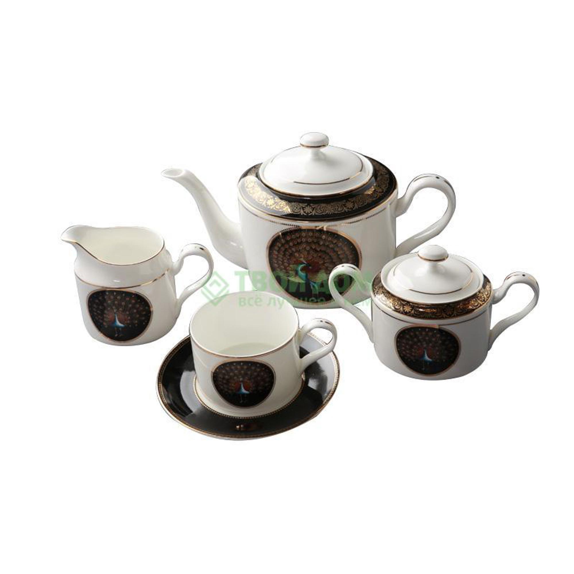Набор чайный Топ арт студио Сервиз чайный 15пр, Персия блэк (YF1403-TA)