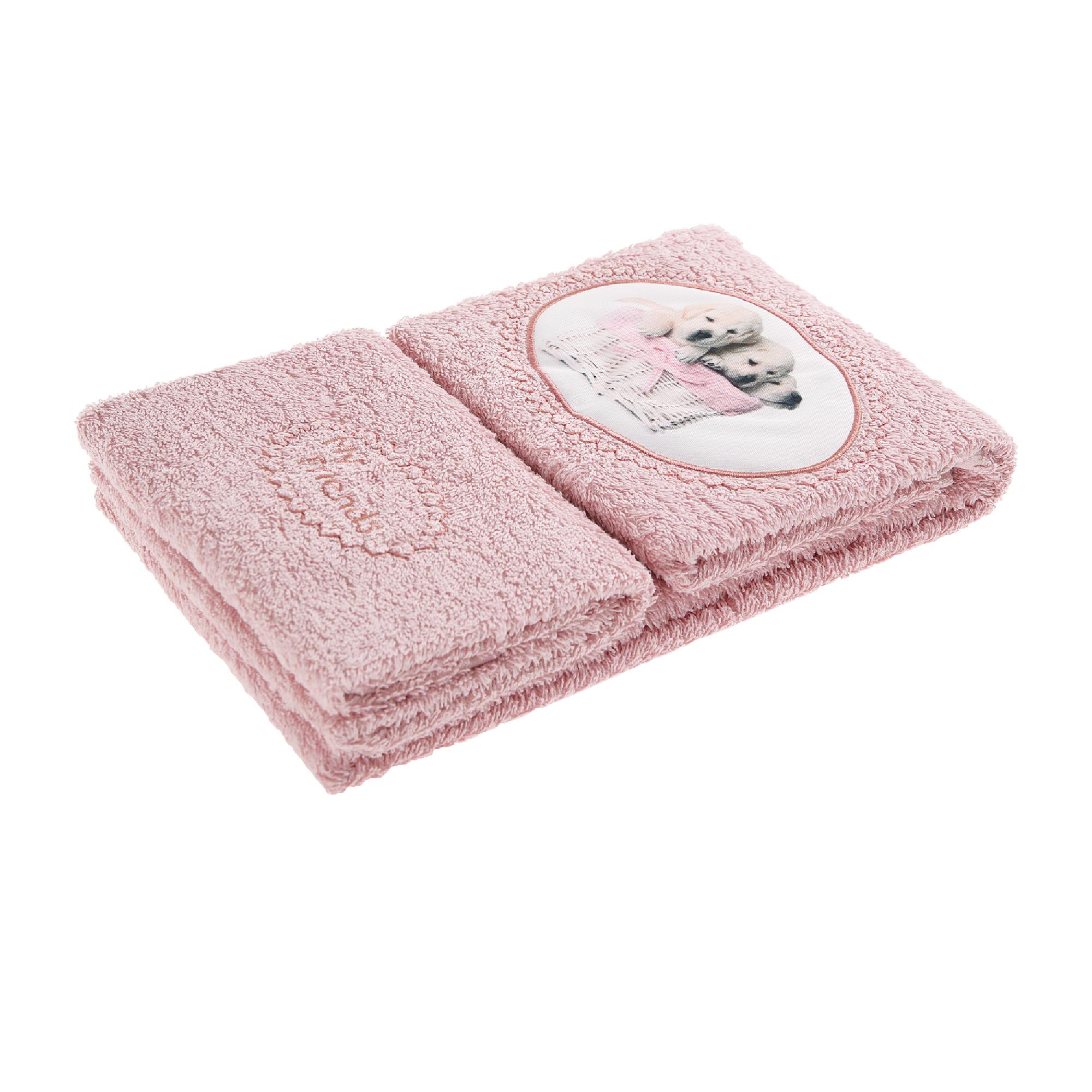 Набор полотенец Almatex Самоа-АТ розовый 2 шт полотенца honda towel набор полотенец в подарочной упаковке regal 34х80 см 2 шт