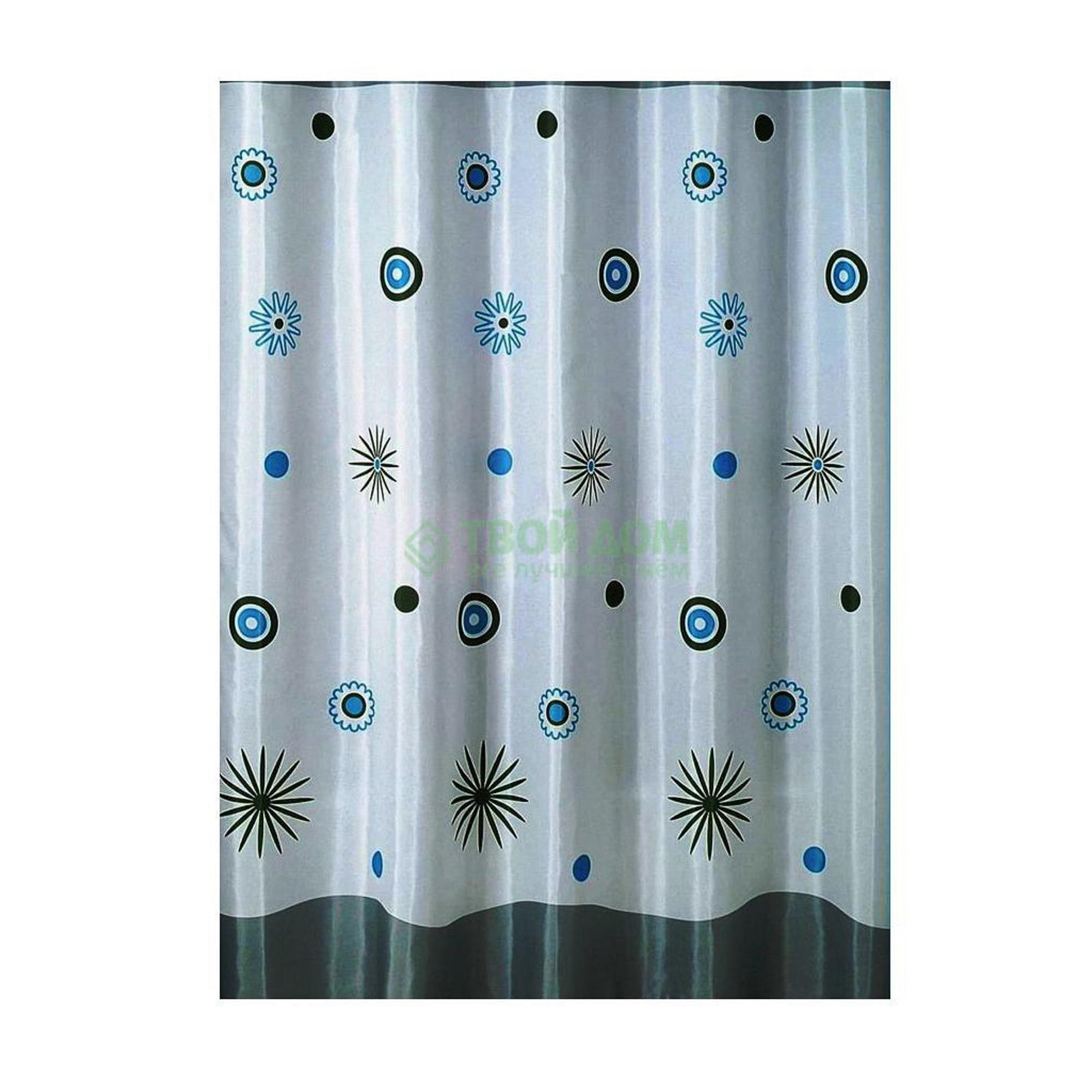 Штора для ванной комнаты Primanova Vela с отливом (с рисунком) 180х200 см