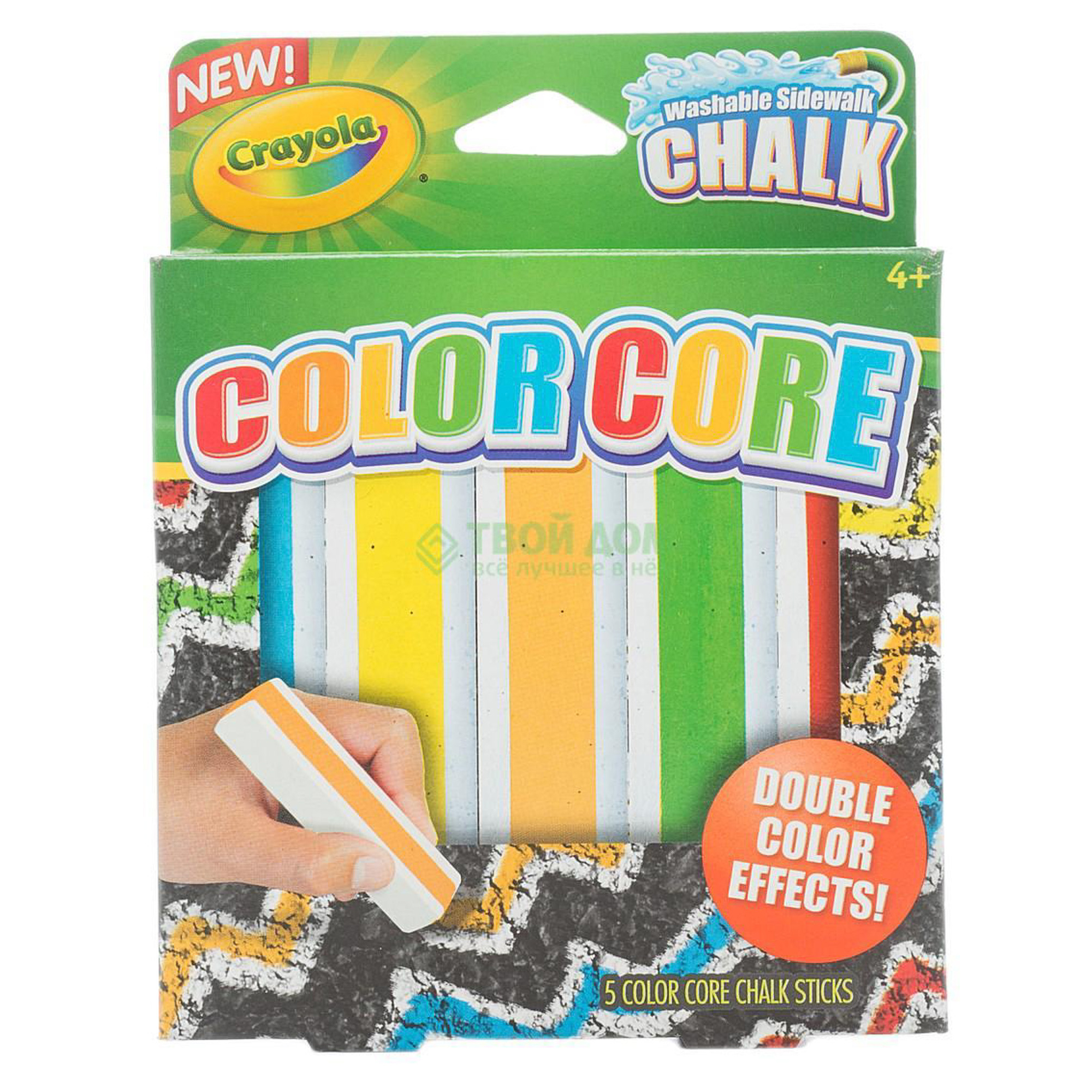 Купить Crayola Набор мела с цветным стержнем для асфальта 5 цветов, Китай, унисекс, Наборы для рисования