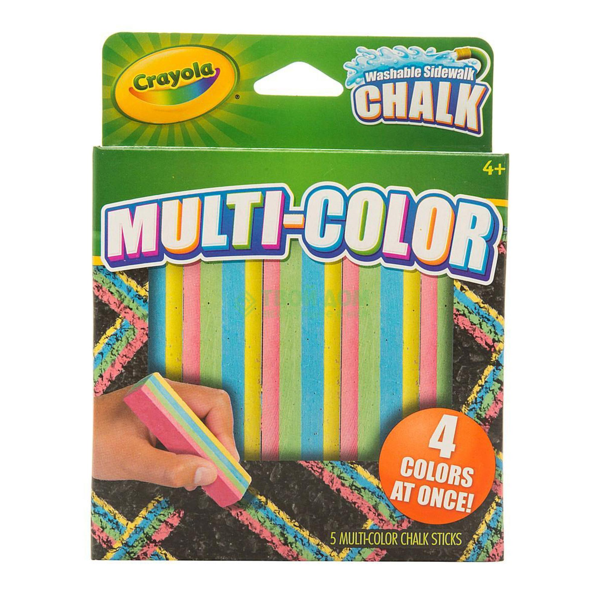 Купить Crayola Набор разноцветного мела для асфальта 4 цвета, Китай, унисекс, Наборы для рисования