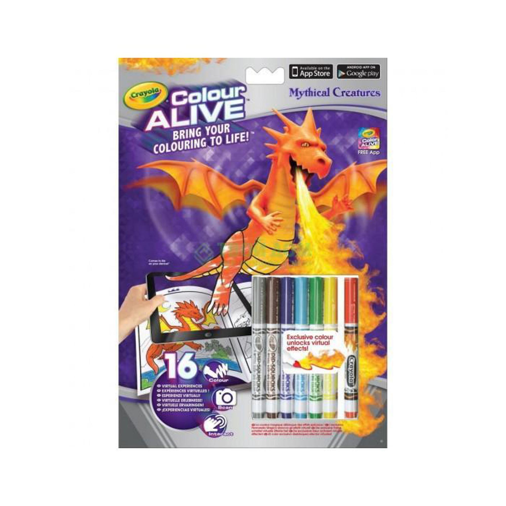 Набор для творчества Crayola Color Alive Раскраска Замки и Драконы.