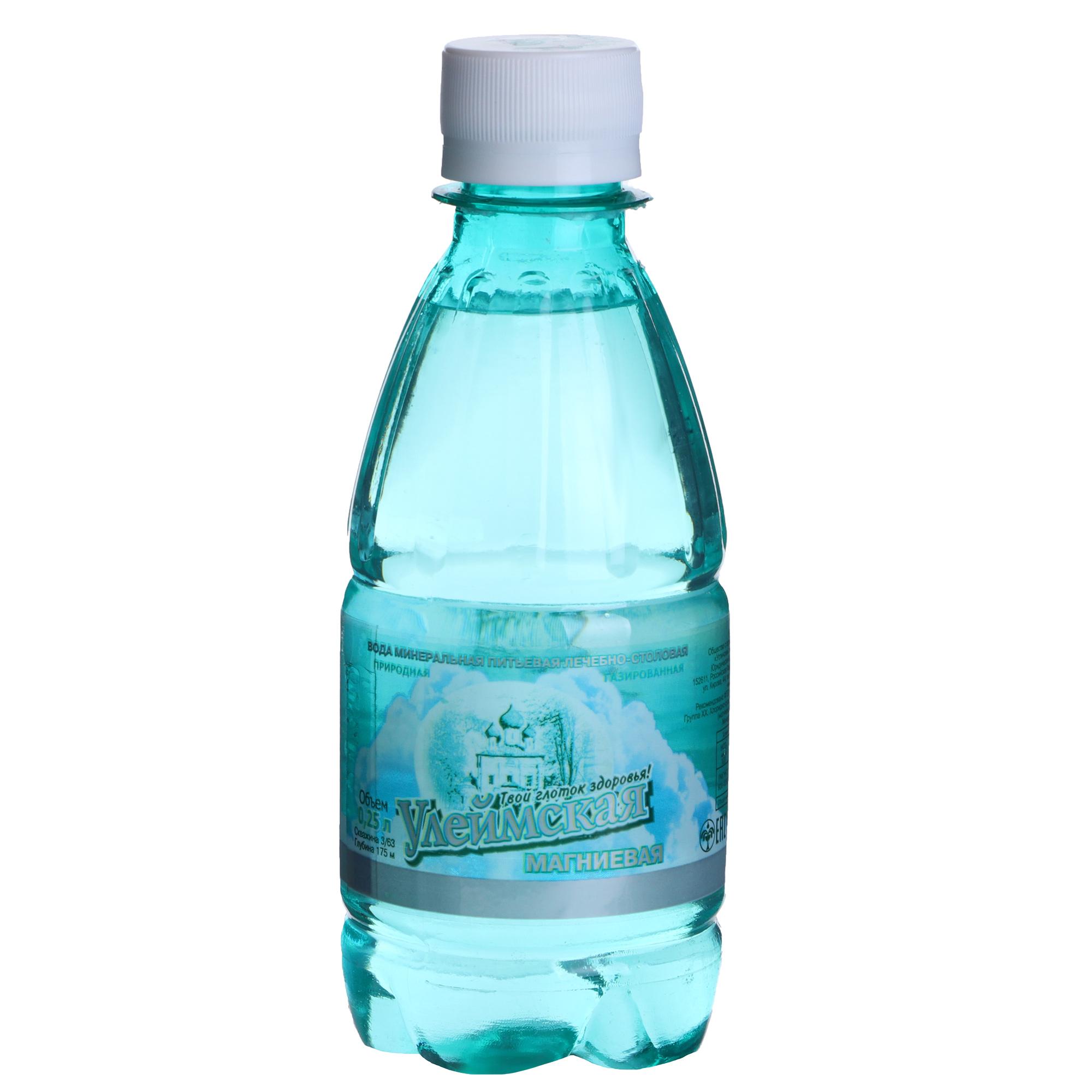 Вода минеральная Улеймская магниевая газированная 0,25 л