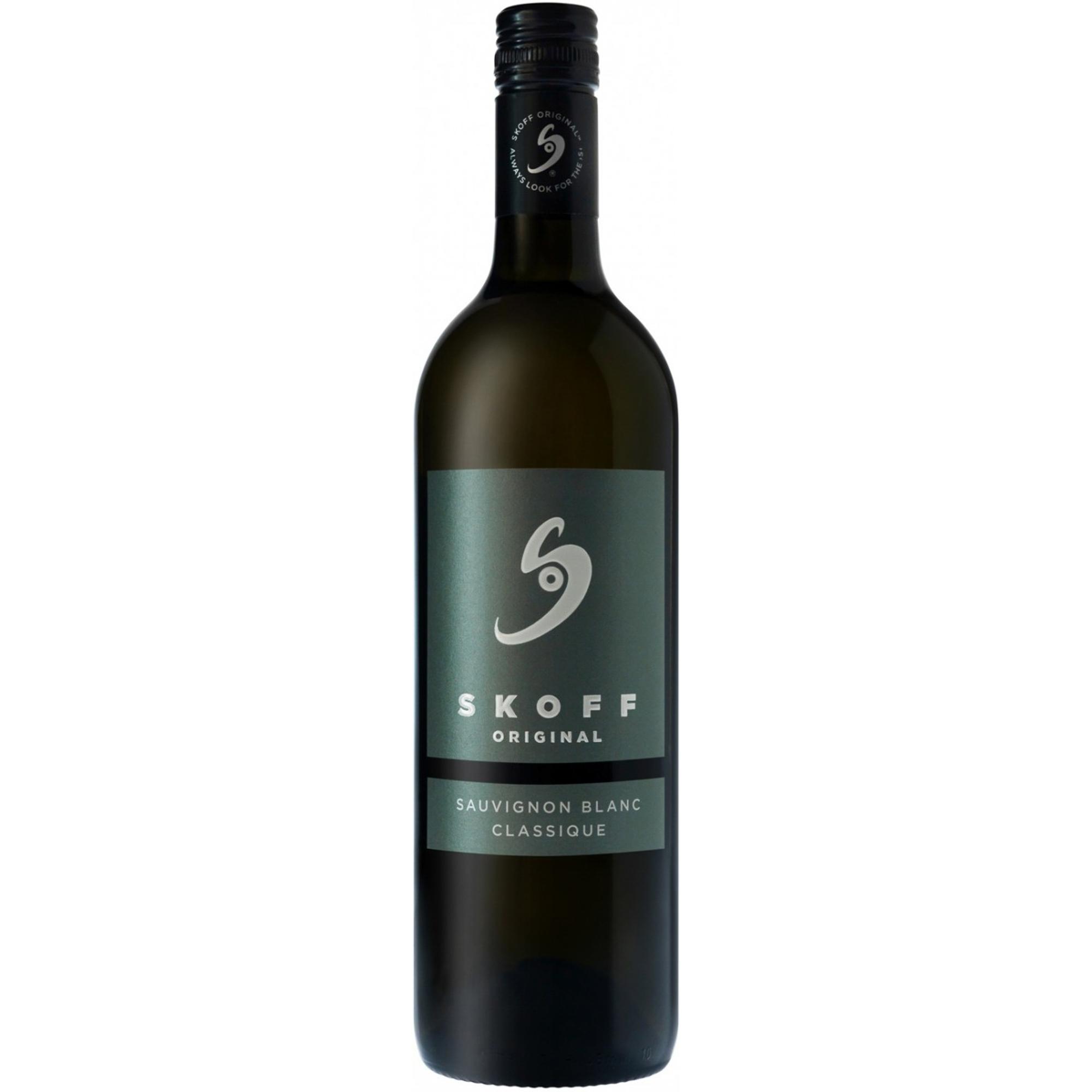 Купить Вино белое сухое Skoff Classique Sauvignon Blanc 0, 75 л, Австрия, Желтый с зеленоватым оттенком