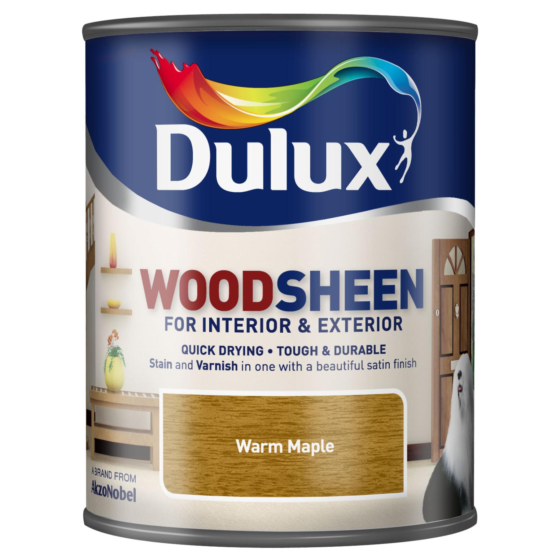 Лак-морилка водный Dulux woodsheen warm maple 1л фото