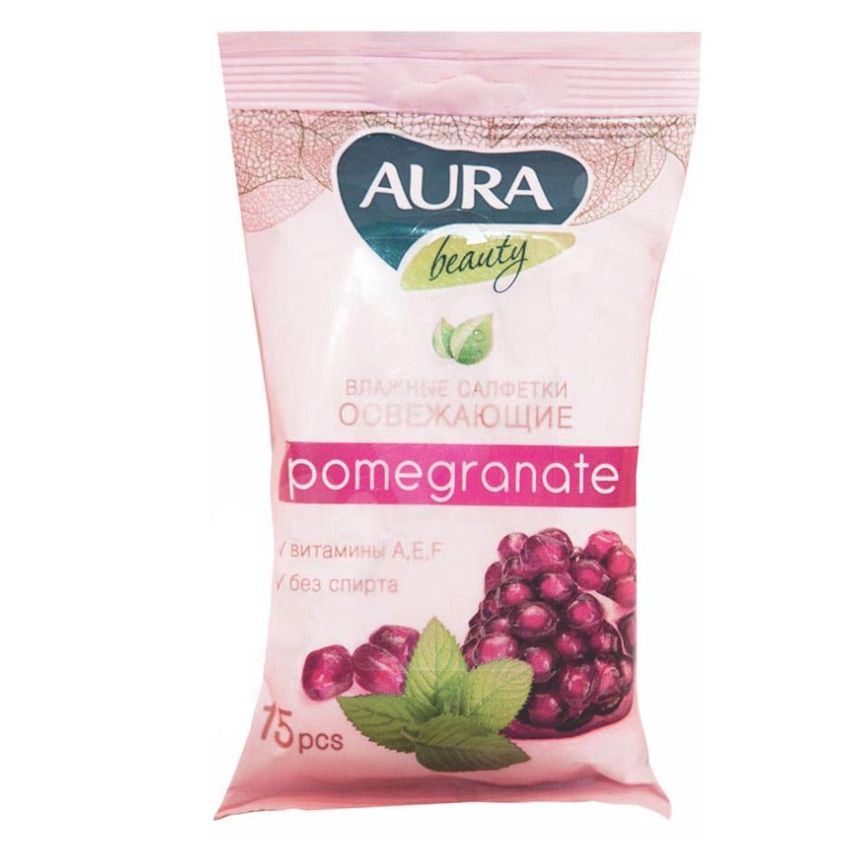 Влажные салфетки освежающие Aura  Beauty 15 шт