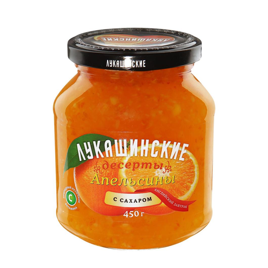 Апельсины Лукашинские десерты с сахаром Английский затрак 450 г фото