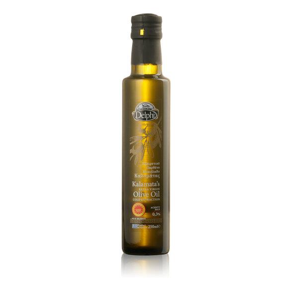 Масло оливковое DELPHI Extra Virgin Kalamata 250 мл korvel оливковое масло extra virgin греция данае 250 мл