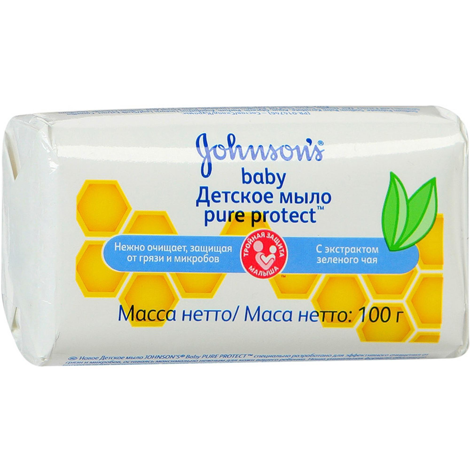Купить Детское мыло Johnson's Baby Pure Protect 100 г, Johnson's Baby, ОАЭ, универсальный, Средства по уходу за телом и за кожей лица для детей