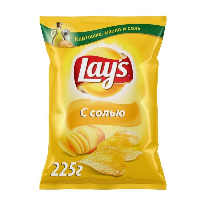 Фото - Чипсы картофельные Lays с солью 225 г лоренц чипсы картофельные naturals классические с солью lorenz