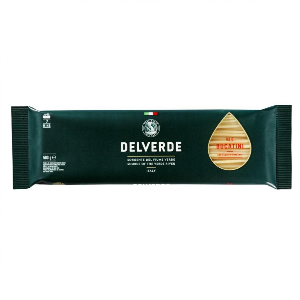 Макаронные изделия Delverde № 6 Букатини 500 г макаронные изделия ашан ракушки 500 г