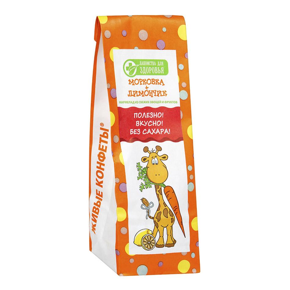 Мармелад Лакомства для здоровья желейный Морковка+Лимончик 105 г