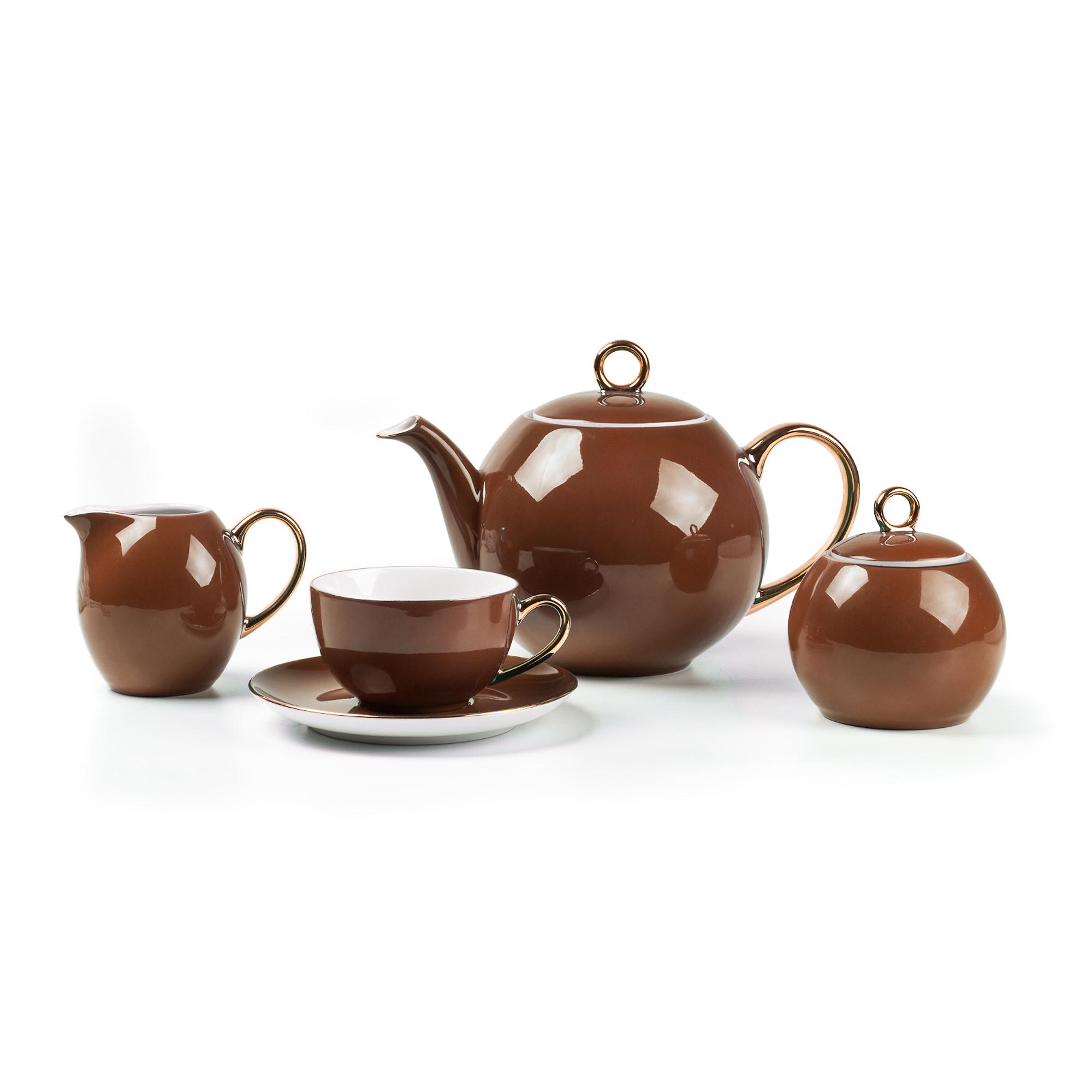 Сервиз чайный Rose De Sable Monalisa 15 предметов 6 персон сервиз чайный из фарфора 12 предметов лаура 84 670