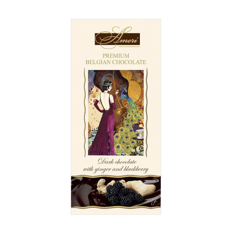 шоколад ameri горький 57% с лимоном и черным перцем 100 г Шоколад Ameri Горький с имбирем и ежевикой 100 г