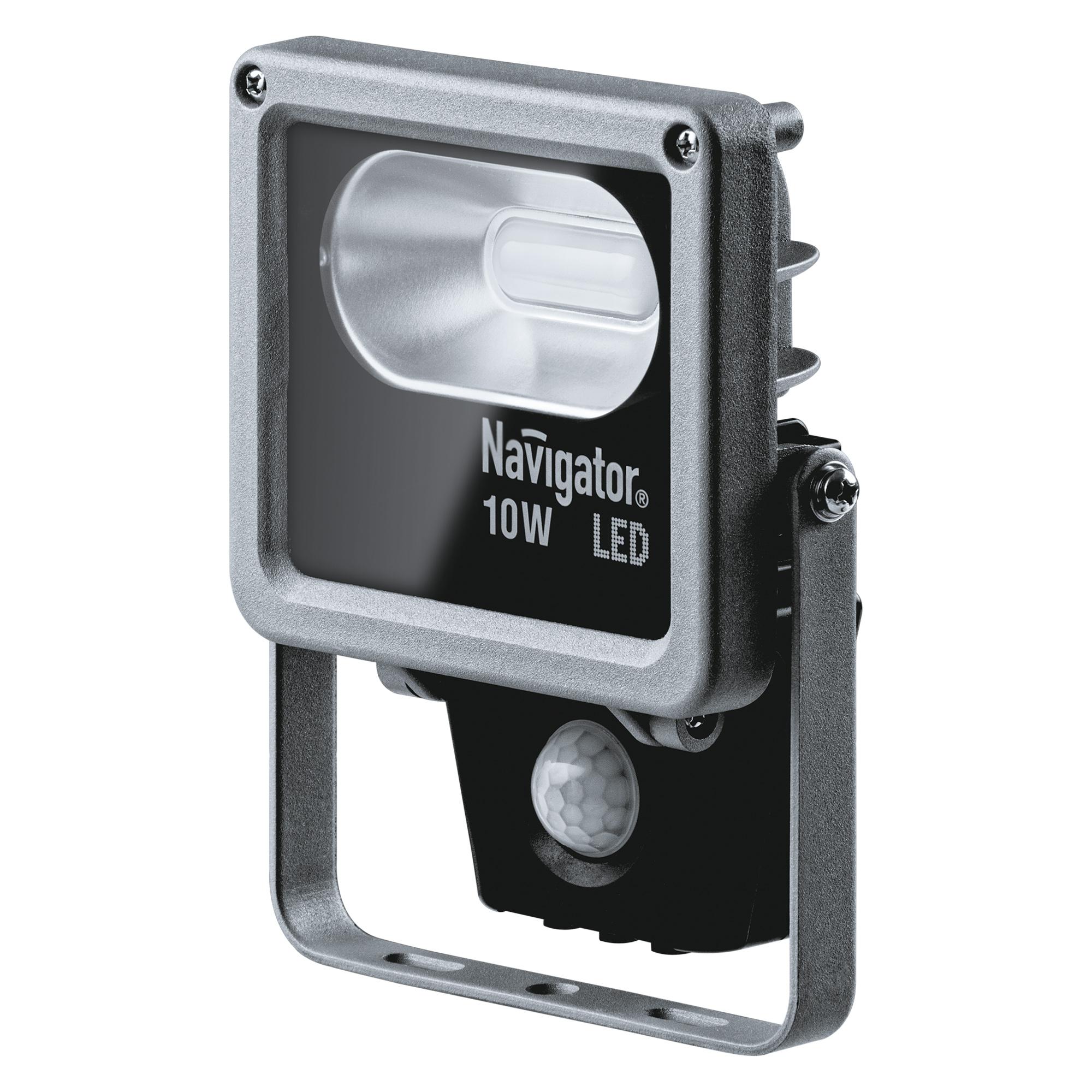 Купить Прожектор светодиодный с датчиком движения 10 Вт (холодный свет) Navigator (71320), прожектор, Китай