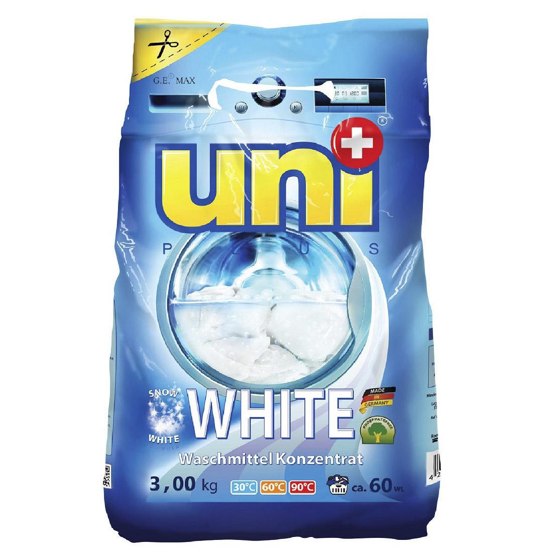 Стиральный порошок UniPlus White концентрированный 3 кг