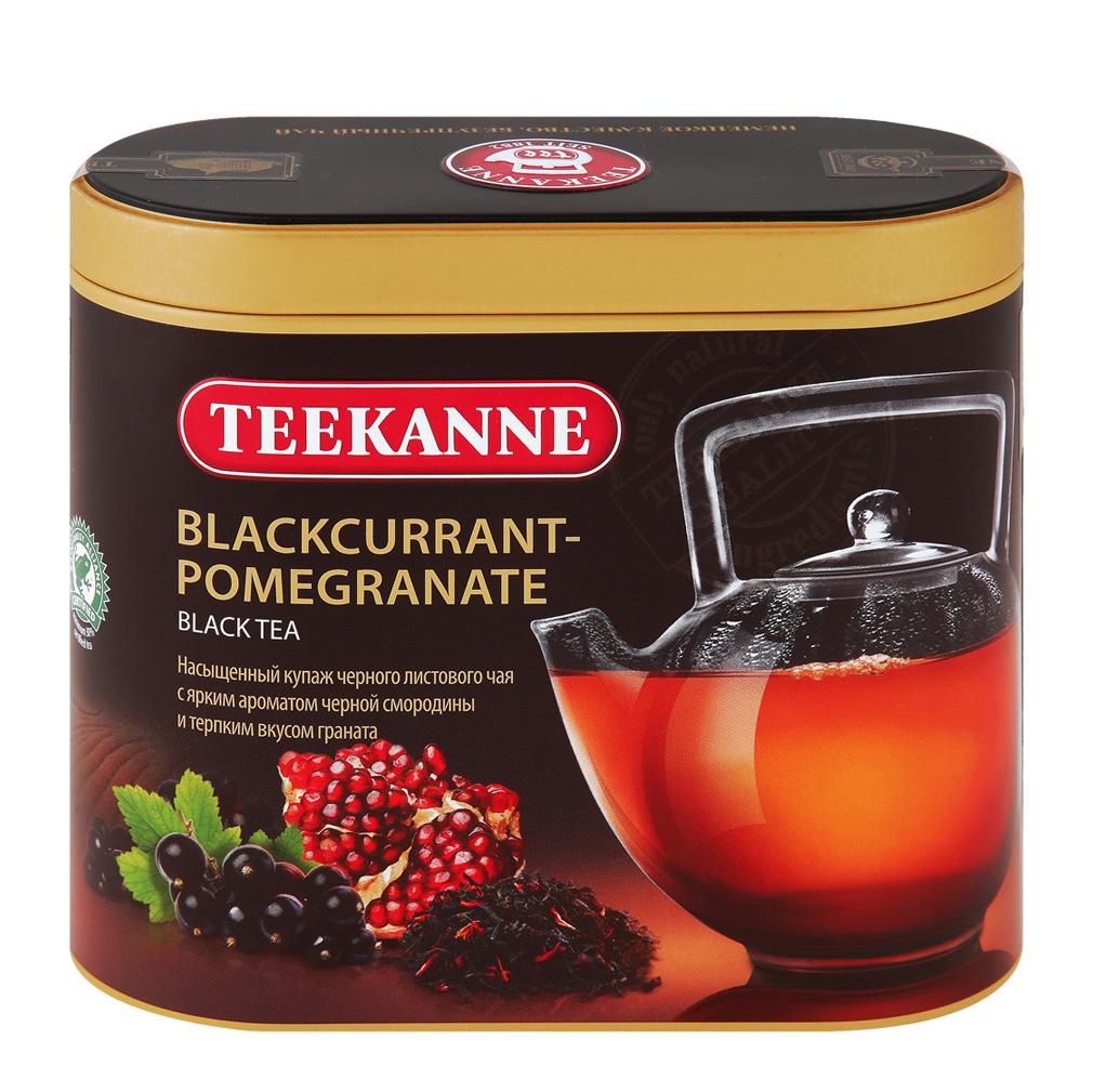 Чай черный Teekanne Черная смородина, гранат листовой 150 г