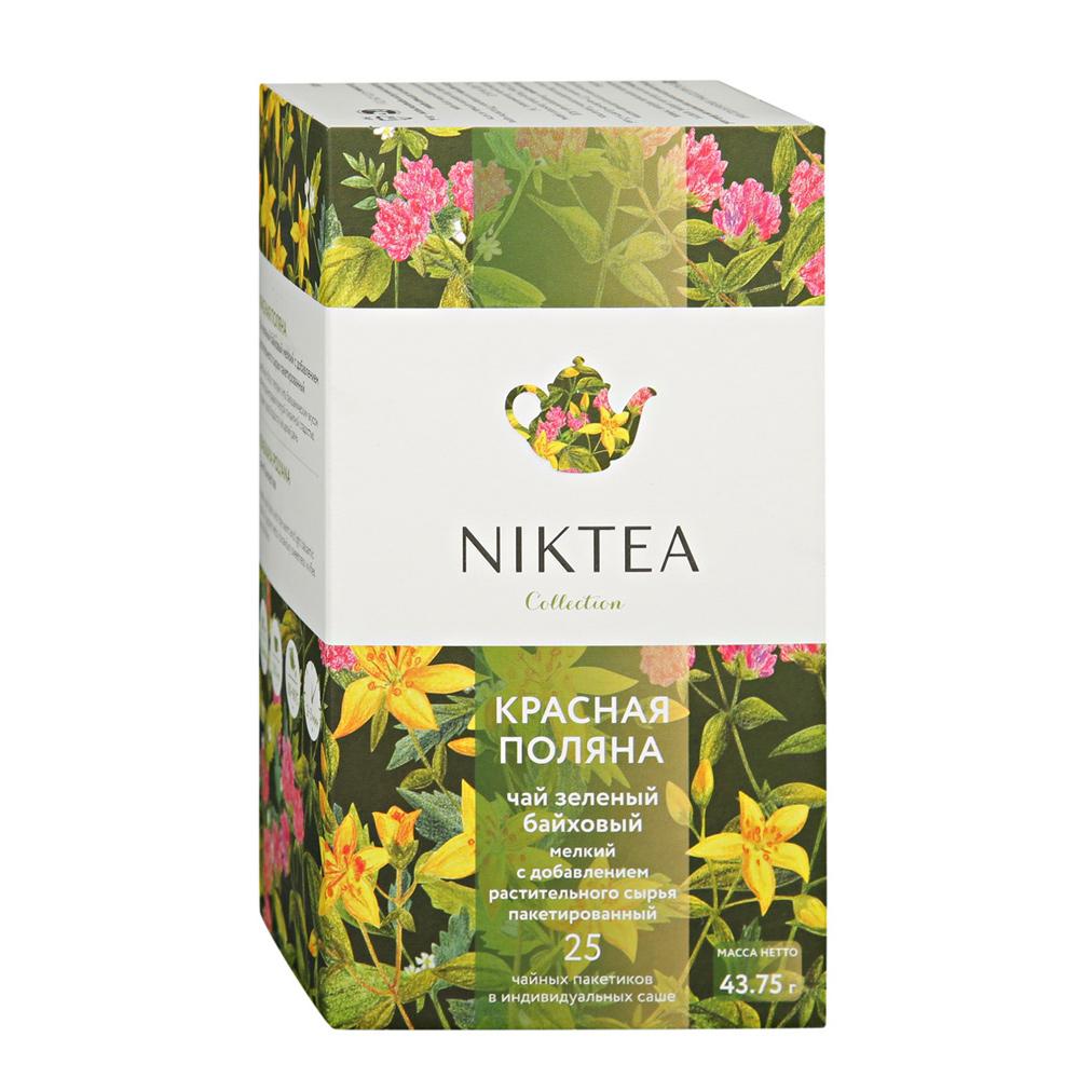 Чай зеленый Niktea Красная Поляна 25 пакетиков