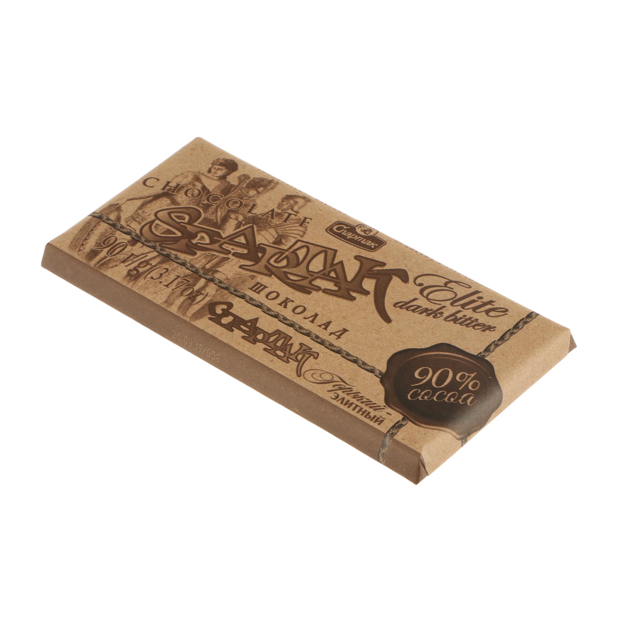 шоколад спартак горький 72% какао 90 г Шоколад Горький Спартак Элитный 90%