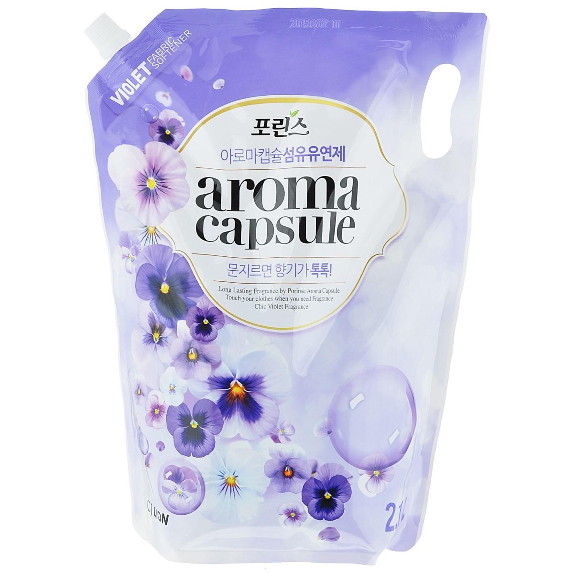 Кондиционер для белья CJ Lion Porinse Aroma Capsule с ароматом фиалки 2.1 л