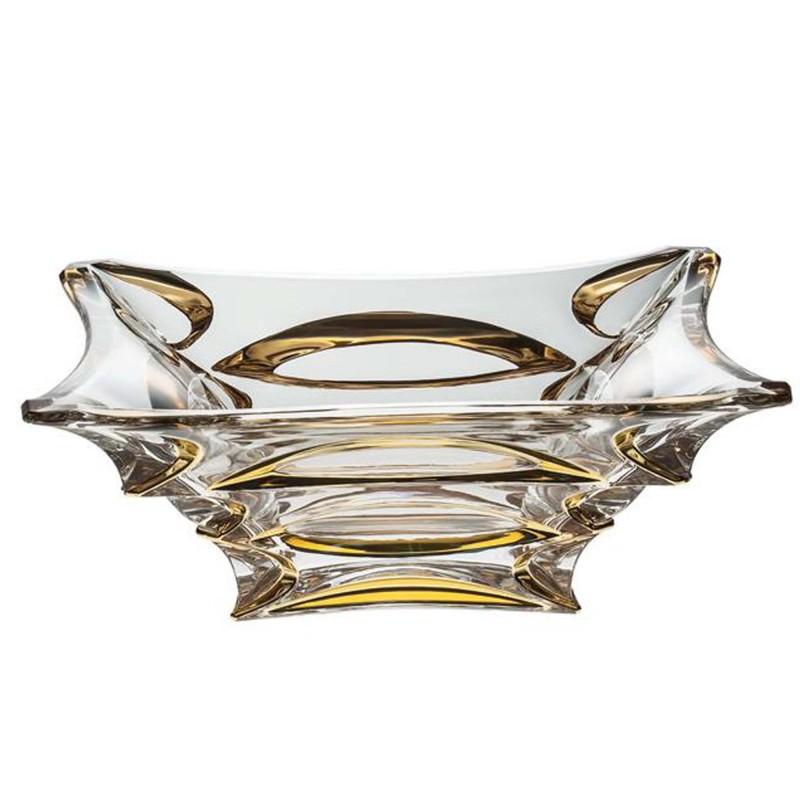 Салатник Crystal Bohemia X-Lady Gold 29х29 см