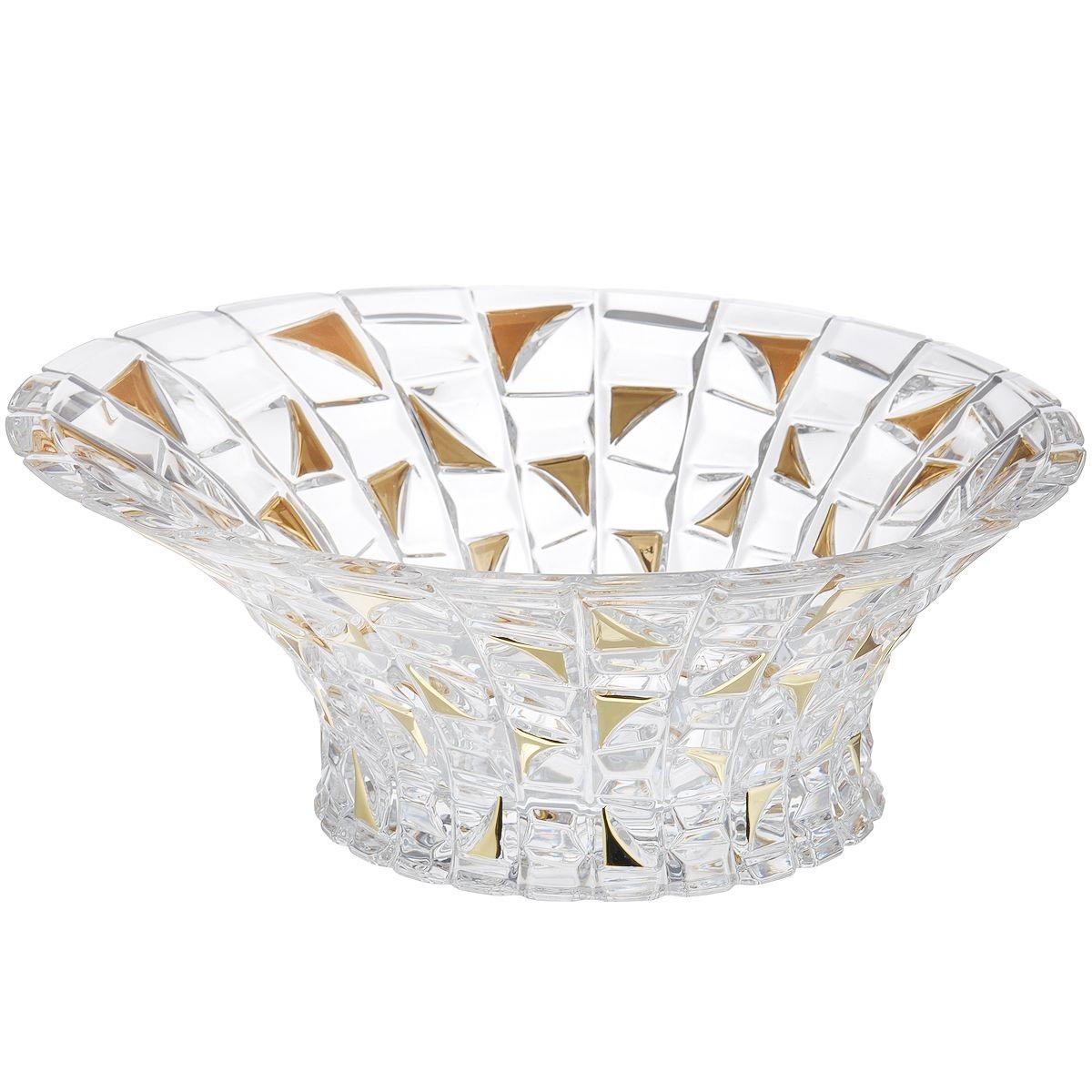 Салатник Crystal Bohemia Patriot Gold 33 см