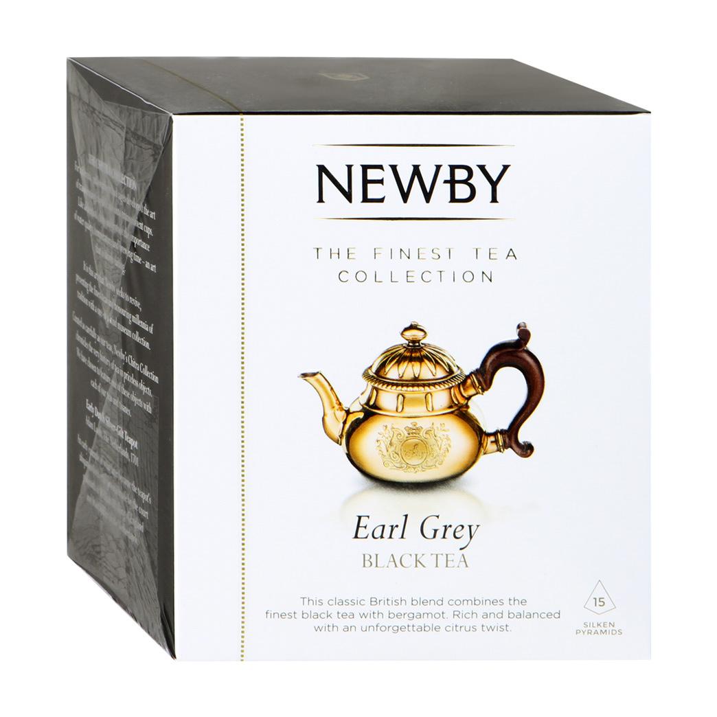 Чай черный Newby Эрл Грей в пирамидках 15 пакетиков