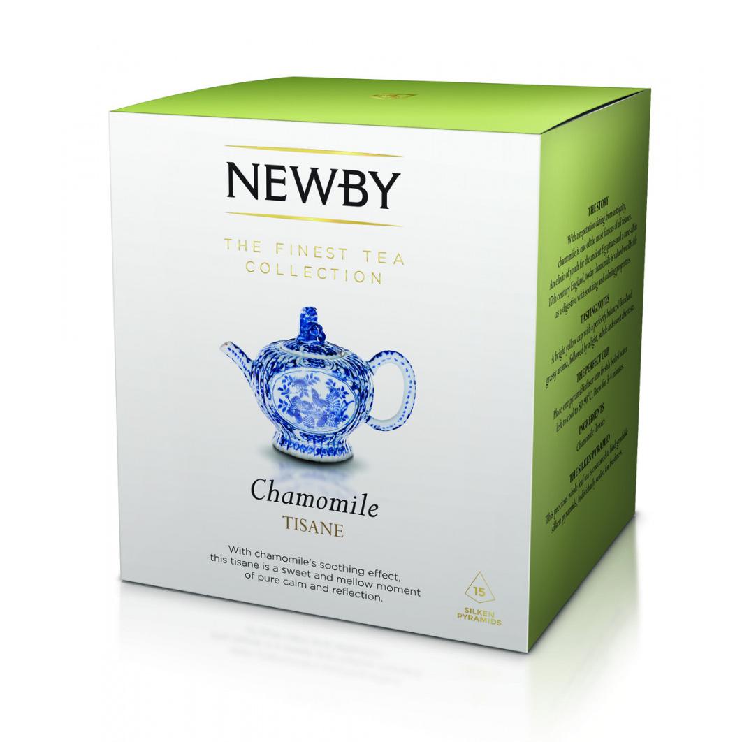 Фото - Чай травяной Newby Ромашка в пирамидках 15 пакетиков чай травяной леторос душевный разговор в пирамидках 20 шт