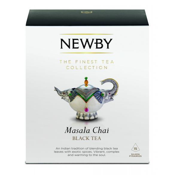 Чай черный Newby Masala Chai со специями в пирамидках 25 пакетиков