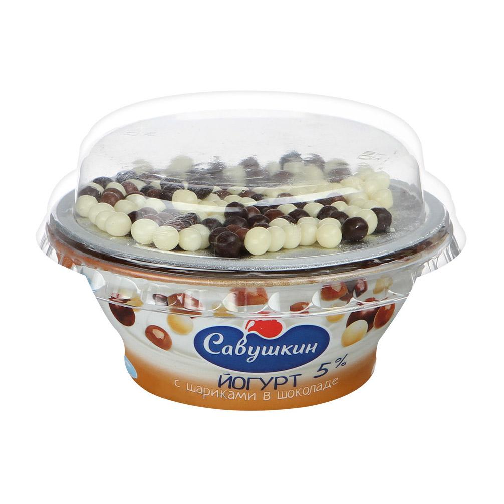 творог савушкин продукт 101 зерно клюква 5% 130 г Йогурт Савушкин продукт с шариками в шоколаде 5% 105 г