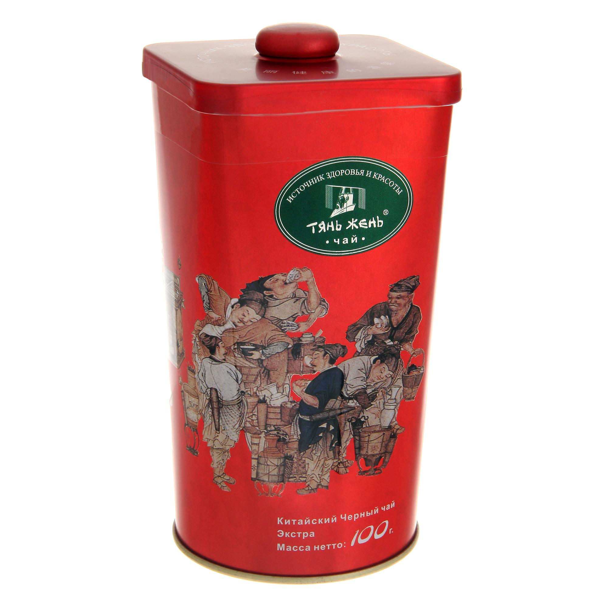 Чай Тянь-Жень черный листовой экстра 100 г фото