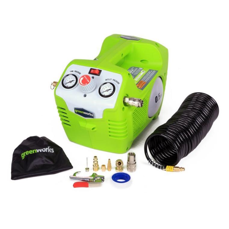 Купить Компрессор 40в без аккумулятора и зарядного устройства greenworks g40sb (4100802), Китай