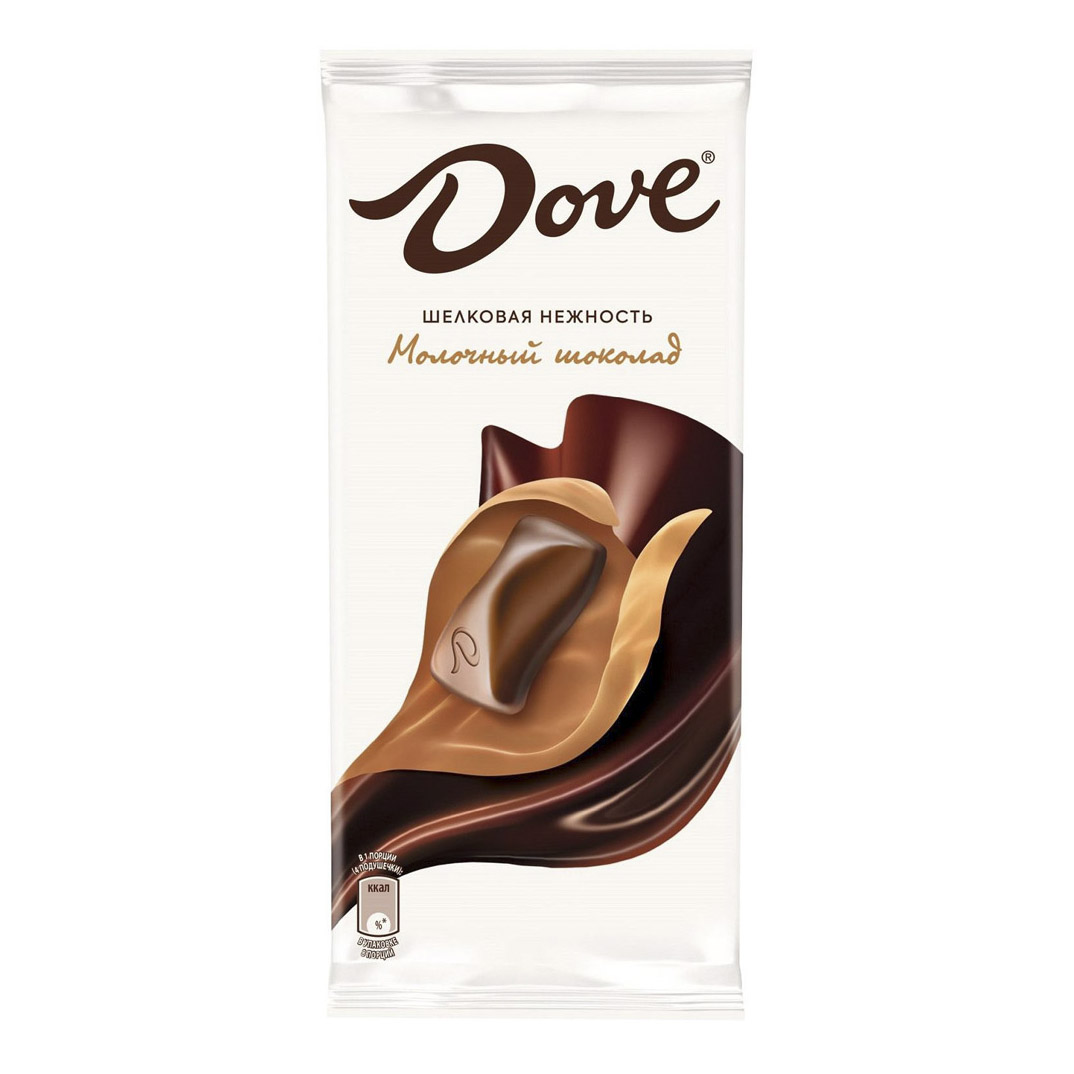 Шоколад Dove молочный 90 г dove 400ml