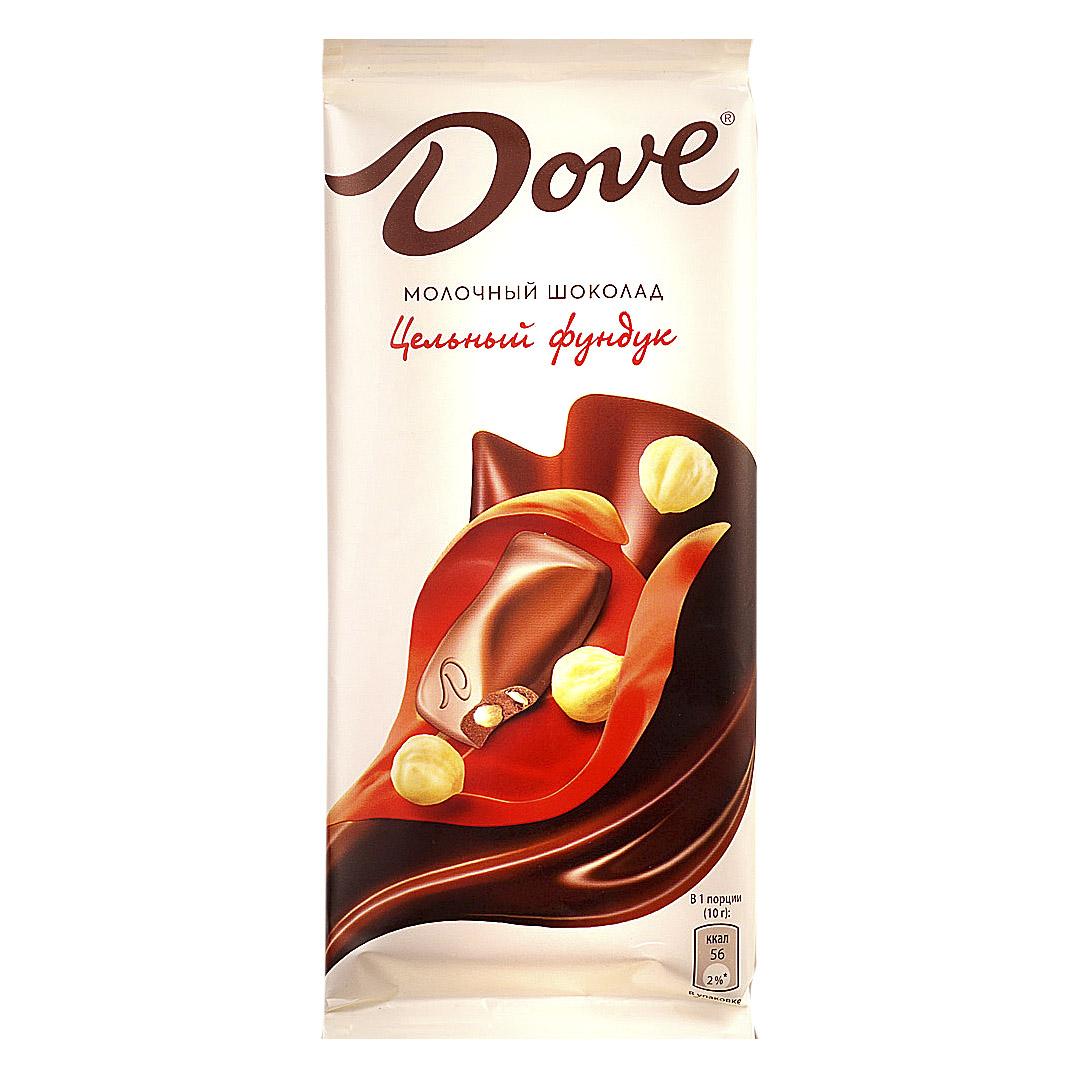 Шоколад Dove молочный с цельным фундуком 90 г