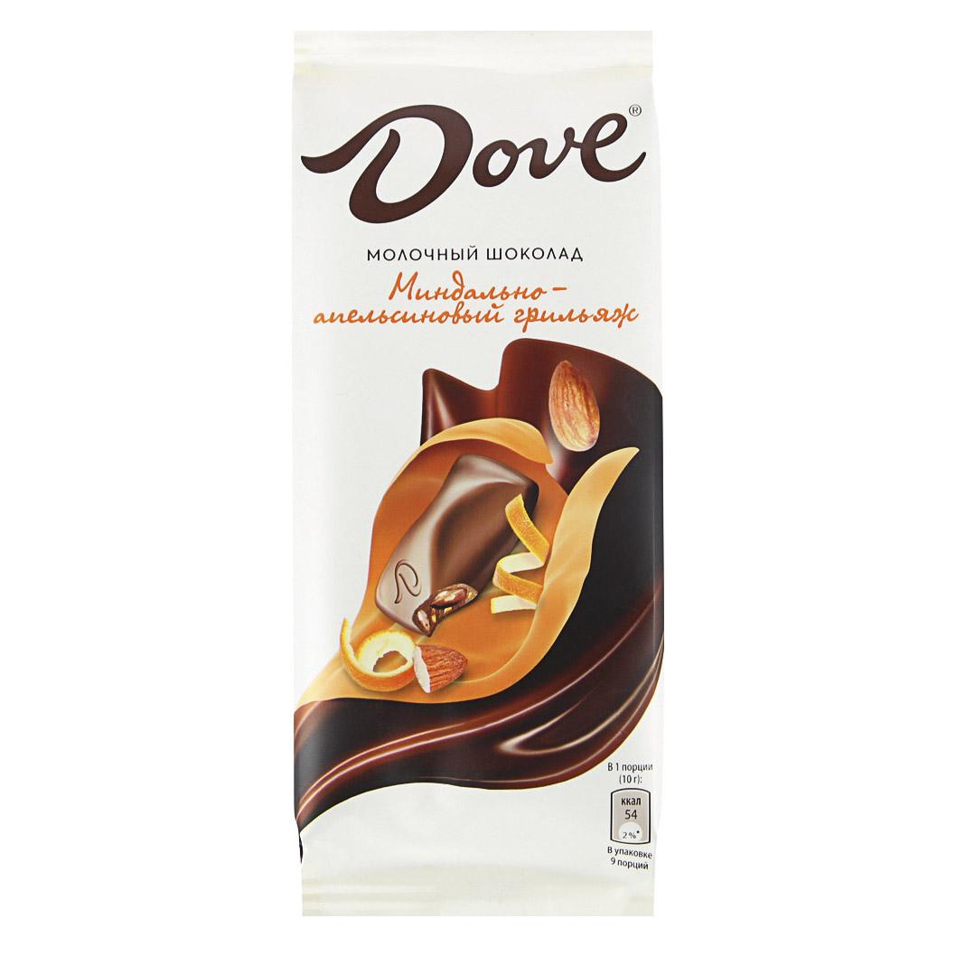 Шоколад Dove молочный Миндально-апельсиновый грильяж 90 г апельсиновый мармелад шикарный апельсиновый мармеладный джем 10 унций 284 г